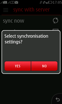 Choose Sync now a yes