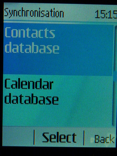 Select Contacts database